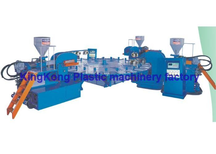 3 Colors Plastic Sneaker Shoe Making Machine / Footwear Manufacturing Machines