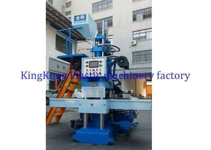 Safety PVC / TPR Sole Making Machine 2 Stations With Automatic Mold Opening Device