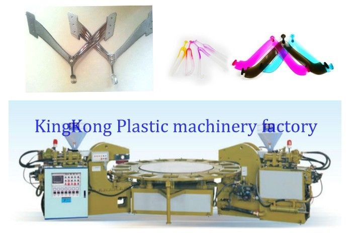 Double Colors Injection Molding Machine For PVC / TPR Flip Flop Strap / Upper