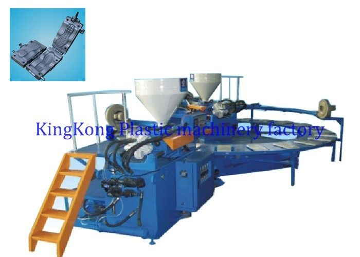 Horizontal 2 Colors Shoe Sole Manufacturing Machine For PVC / TPR / TR Sole