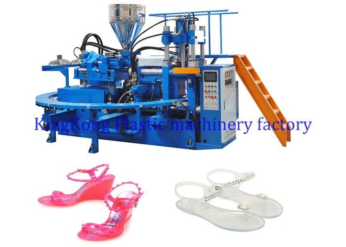 High Efficient Single Color Footwear Making Machine For Adults PVC Jelly Shoes