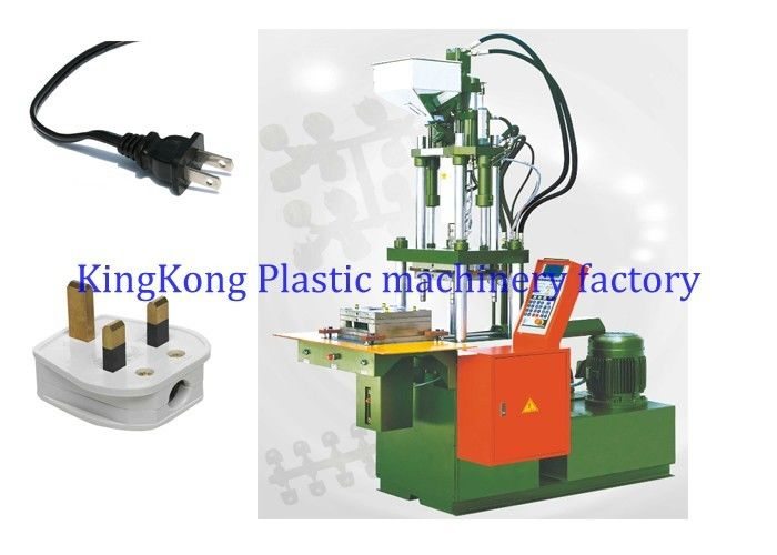 Vertical Plastic Power Plug Wire Head Injection Molding Machine 2 Stations