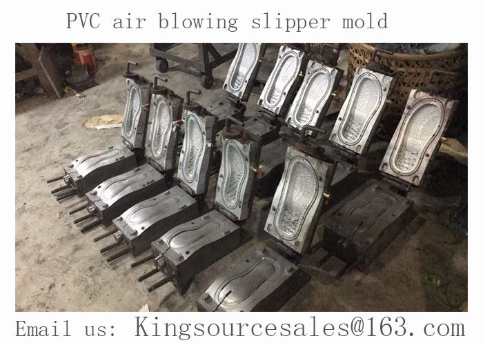 PVC slipper molding, PVC air blown slipper mold, PVC air blowing shoe mold, pvc sandal molding